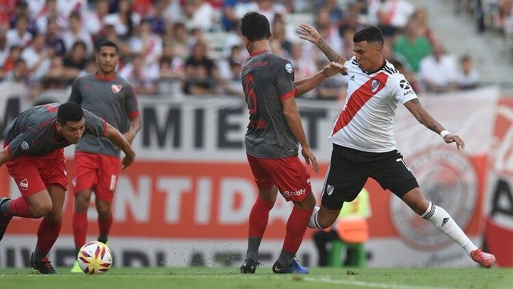 Independiente, por el contrario, se complicó y quedó al borde de perder su lugar clasificatorio a la próxima Copa Sudamericana (@CARPoficial)