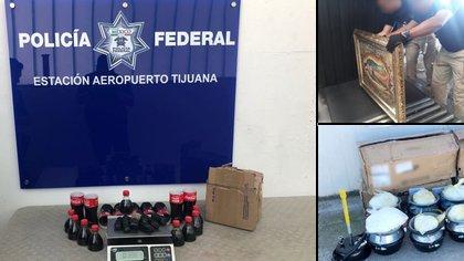 Paquetes con droga decomisados en aduanas en México (Foto: Especial)
