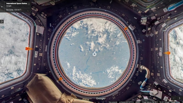 Una imagen panorámica desde la ISS