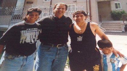 En Canadá, junto a Lalo y Diego Maradona