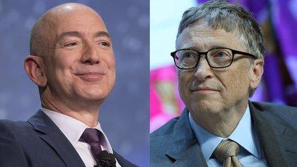 Jeff Bezos y Bill Gates (Bloomberg)
