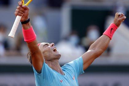Nadal venció a Shwartzman y accedió a la final en la que buscará su título número 13° de Roland Garros (EFE/EPA/YOAN VALAT)