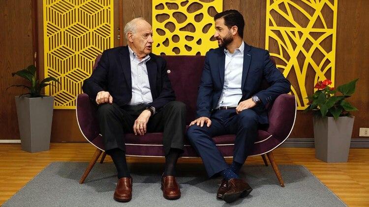 Roberto Lavagna y Matías Tombolini, su candidato en CABA