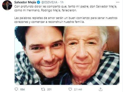 El hermano del actor relató una historia que les generó mucha gracia   (Foto: Twitter Salvador Mejía)
