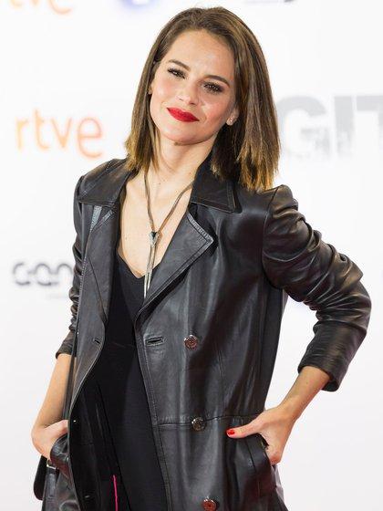 """Luz Cipriota en la premiere de """"Fugitiva"""" en España, en abril de 2018 (Crédito: Shutterstock)"""