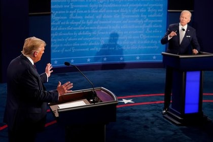 Foto del martes del debate entre el presidente de EEUU, Donald Trump, y el candidato demócrata Joe Biden en el primer debate de cara a las elecciones de noviembre.  Sep 29, 2020. Morry Gash/Pool via REUTERS
