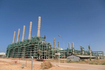 Ras Lanuf Oil and Gas Company, Ras Lanuf, Libye, 18 août 2020. REUTERS / Esam Omran Al-Fetori /