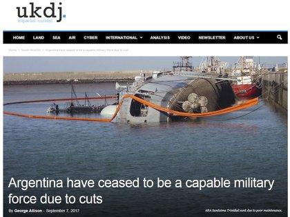 El portal inglés UKDJ (Diario de defensa del Reino Unido) publicó el artículo el 7 de septiembre