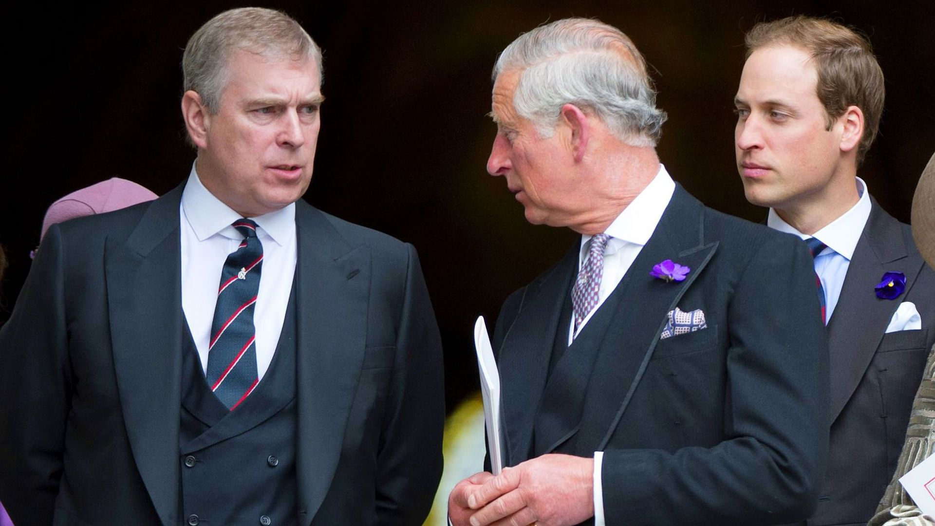 Mandatory Credit: Photo by Tim Rooke/Shutterstock (1732505di) Prince Andrew, Prince Charles, Prince William, Camilla Duchess of Cornwall, Catherine Duchess of Cambridge and Prince Harry The Queen's Diamond Jubilee, Service of Thanksgiving at St Pauls Cathedral, London, Britain - 05 Jun 2012
