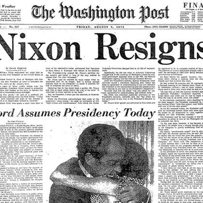 The Washington Post hizo una famosa investigación sobre el escándaloWatergate, que condujo a la renuncia de Nixon.