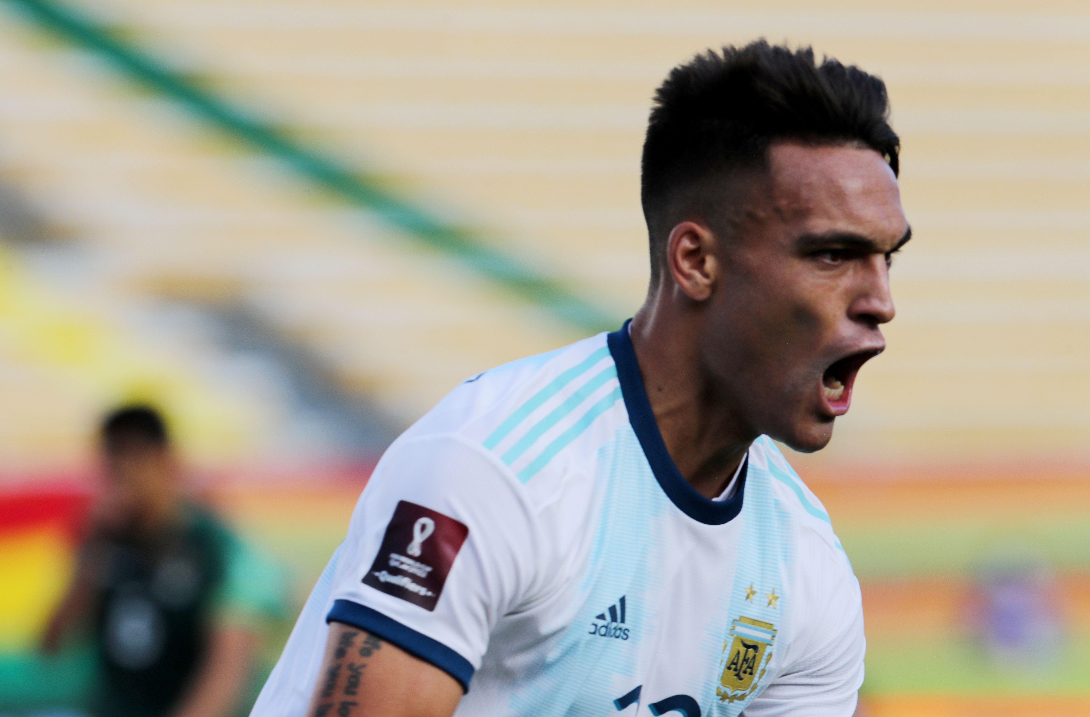 A segundos del final de la primera parte, apareció Lautaro Martínez para poner el 1-1 en el marcador