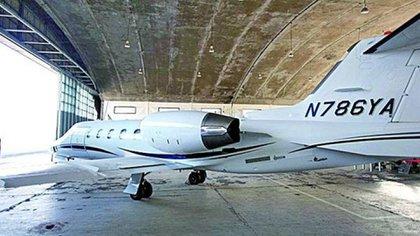 El Learjet 31A matrícula N786YA que usaba Jaime