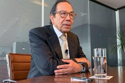 Le président du Conseil de coordination des entreprises (CCE) Carlos Salazar assiste à un entretien avec Reuters, à Mexico, au Mexique, le 20 novembre 2019 (Photo: REUTERS / Josue González / File photo)