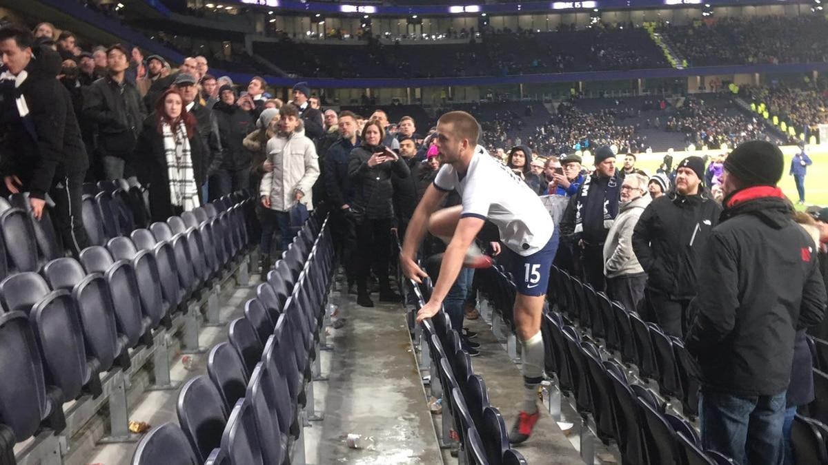 Escándalo en la FA Cup: un jugador del Tottenham saltó a la grada para enfrentarse con un aficionado - Infobae