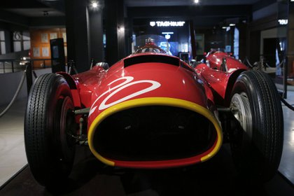 El Lancia Ferrari que se luce en el Museo de Juan Manuel Fangio en Balcarce