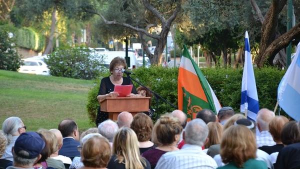 El acto principal para recordar a las víctimas de AMIA se llevó a cabo en la ciudad de Kfar Saba (Marcelo Raimon)
