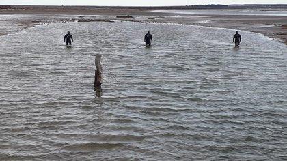 """La zona donde fue encontrado el cadáver el sábado es un estuario de """"difícil acceso"""" para hacer un rastrillaje efectivo, por eso los investigadores no habían llegado días atrás"""
