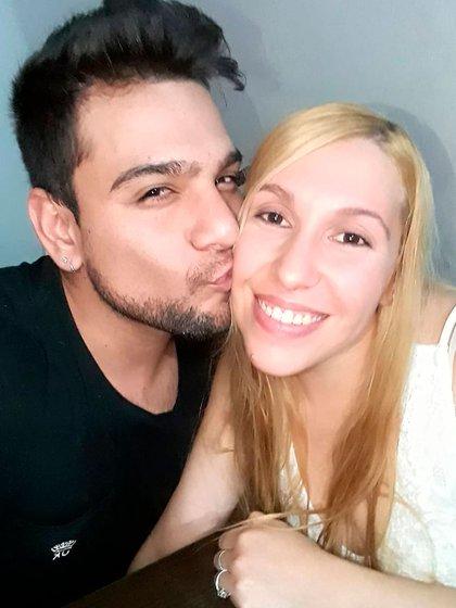 Corvalán junto a su esposa (Foto: Instagram @gustavo.corvalan)