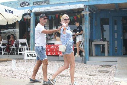 Yanina Latorre y Diego Latorre están en Uruguay de vacaciones (GM Press)