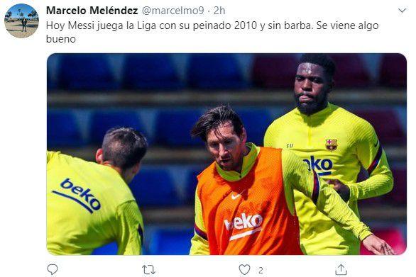 Memes Messi sin barba