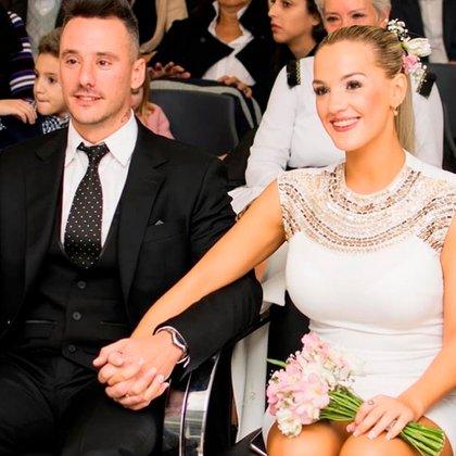 Imagen del día de la boda entre Fernando Migliano y Nadia di Cello