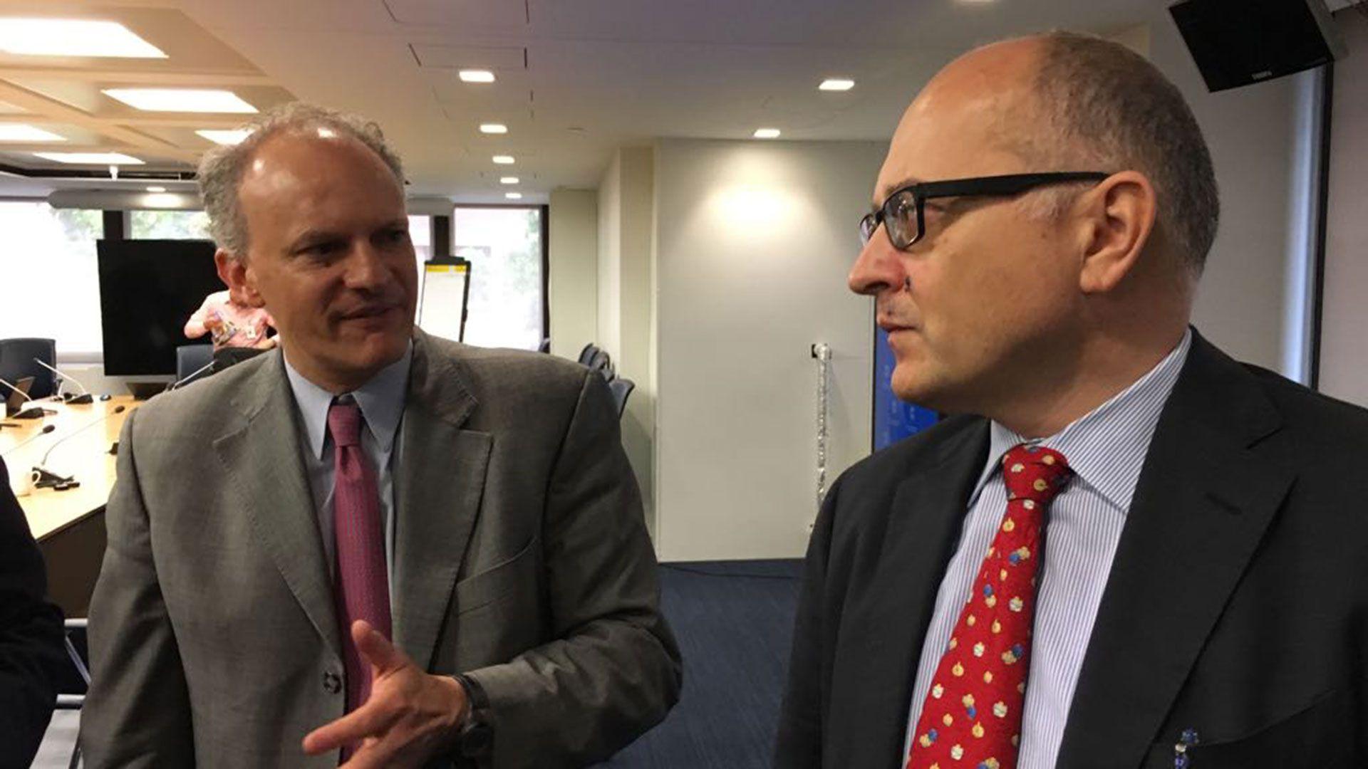 Alejandro Werner y Roberto Cardarelli, funcionarios del FMI