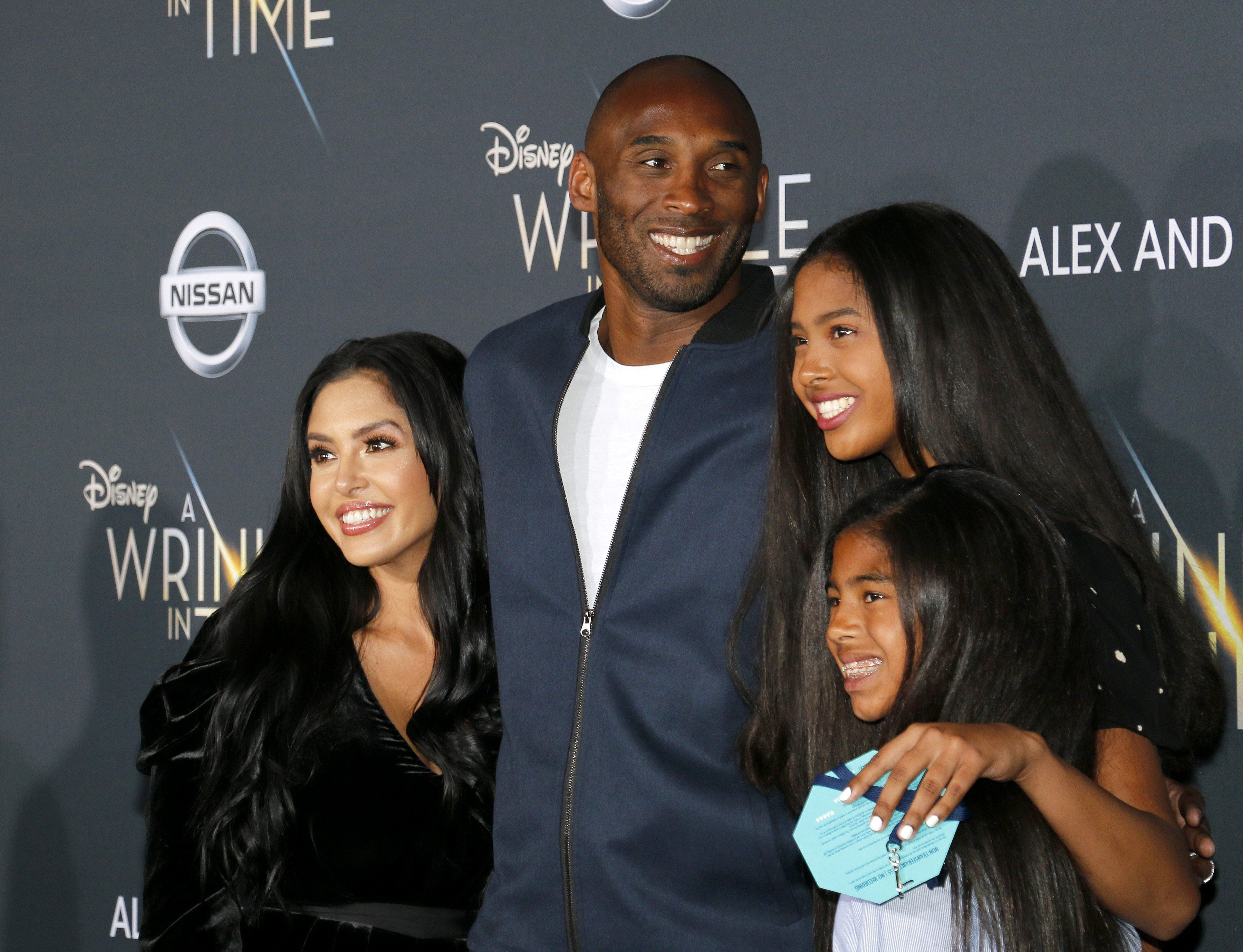 Kobe Bryant, Vanessa Laine, Gianna Bryant y Natalia Bryant (Shutterstock)