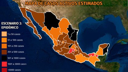 Mapa del coronavirus en México 13 de mayo: la curva epidémica continúa a la baja, pero CDMX, Edomex y Tabasco son los que tienen más casos activos