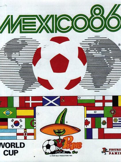Portada del álbum Panini del Mundial México 1986.