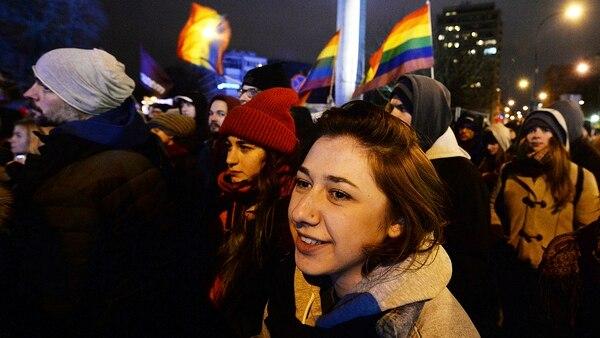 Miles de mujeres se movilizaron el miércoles por las calles de las principales ciudades de Polonia (AP)