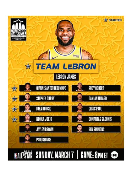 Los integrantes del Team LeBron (@nbalatam)