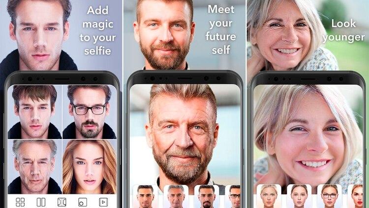 FaceApp es una aplicación que permite retocar fotos digitalmente.