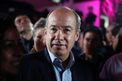 El ex presidente de México, Felipe Calderón Hinojosa, se pronunció este miércoles en contra de las acusaciones que señalan al gobernador panista de Tamaulipas Francisco Javier García Cabeza de Vaca. REUTERS/Ginnette Riquelme