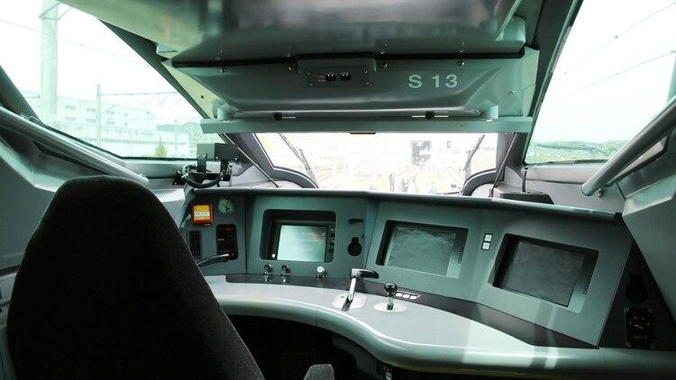 La cabina del conductor del tren bala Alfa X (Foto: AFP)
