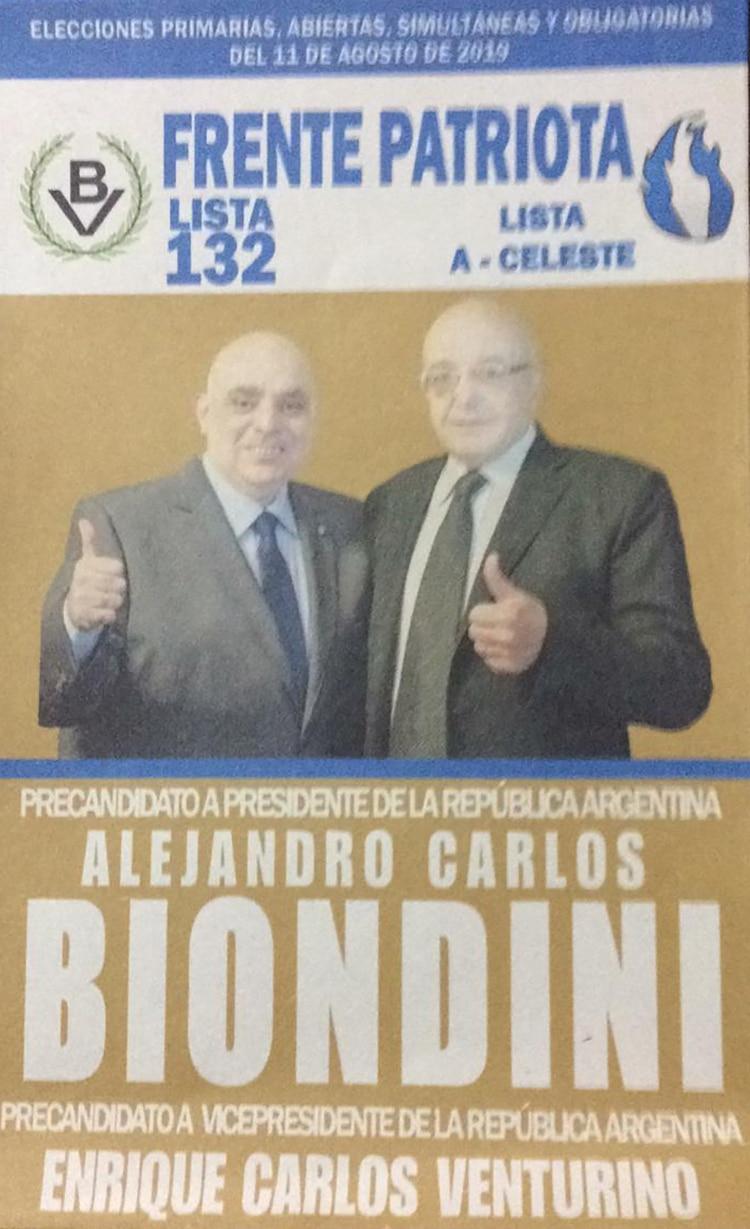 Alejandro Biondini y Enrique Venturino – Frente Patriota