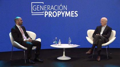 El ministro Martín Guzmán y el CEO de Techint, Paolo Rocca