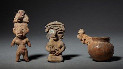 Estas piezas son propiedad del matrimonio de los coleccionistas Manichak y Jean Aurance, quienes poseen máscaras y figuras cuyo precio estimado se eleva en algunos casos a los 88 mil 292 dólares (Foto: Casa Millon)