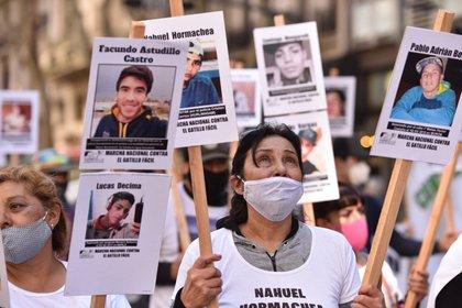 Una de las marchas que se organizaron para pedir justicia por la muerte de Facundo Astudillo Castro y otros casos