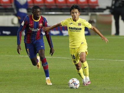 Ousmane Dembélé solamente disputó 20 minutos en lo que va de la temporada (REUTERS/Albert Gea)