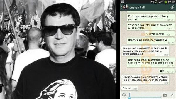 """Los chats que presentó el """"espía"""" Allan Bogado para probar que trabajó en jefatura de Gabinete"""