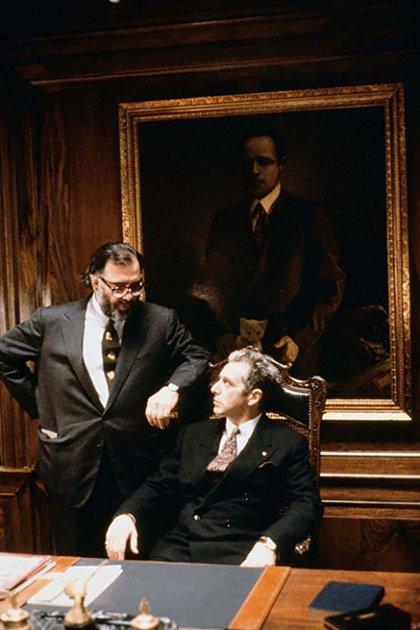 Francis Ford Coppola y Al Pacino en el set de El Padrino: parte III (1990)