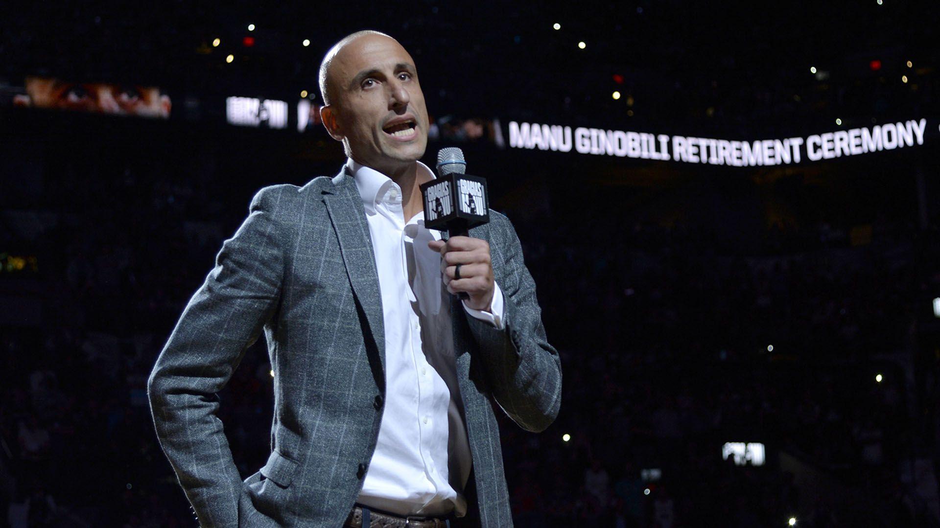 Manu Ginóbili será el presidente del Gran Jurado que entregará los Premios Konex al deporte (AFP)