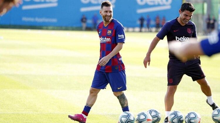 Lionel Messi dejó atrás una lesión muscular y podría debutar esta temporada con la camiseta de Barcelona en el duelo ante Betis, por la segunda fecha de La Liga (@FCBarcelona_es)