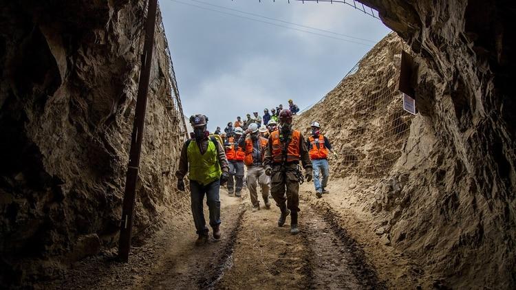 Las tareas de rescate en la mina (EFE)