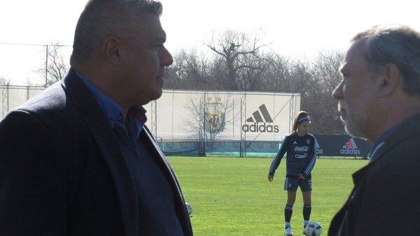 Chiqui Tapia pasó por la práctica (@Argentina)