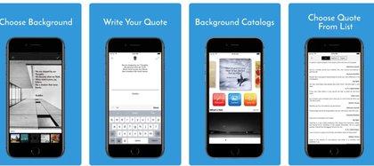 Textgram Quote Creator está disponible para iOS
