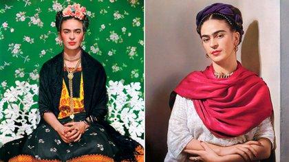 Kahlo fue fotografiada por una veintena de artistas de la cámara, pero las dos más emblemáticas las realizó Nickolas Muray, quien fera su amante