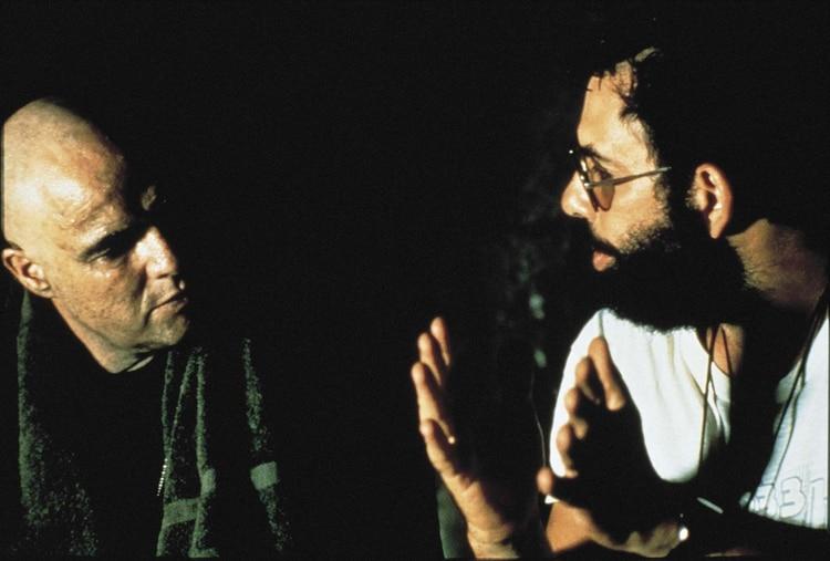 Francis Ford Coppola y Marlon Brando (Shutterstock)