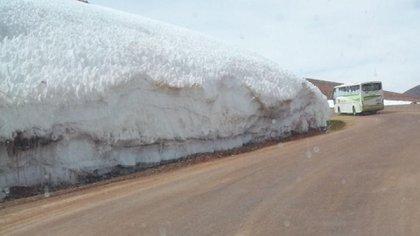 Barrick Gold cortó un glaciar para hacer un camino minero.