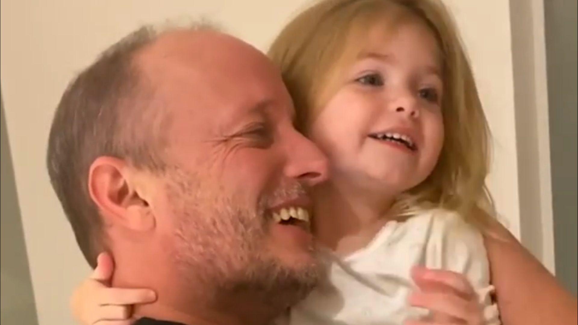 Jésica Cirio mostró cómo fue el reencuentro de Martin Insaurralde con su hija